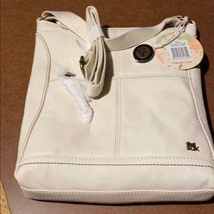 The Sak white leather crossbody